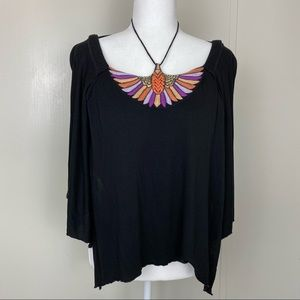 FREE PEOPLE Embroidered Wings Top